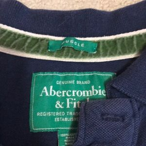 Abercrombie & Fitch Shirts - A&F navy polo, FREE w/ ANY PURCHASE